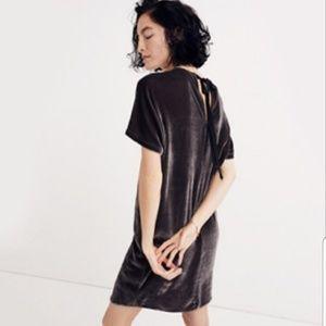 Madewell velvet dress size small